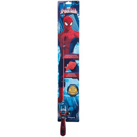 Shakespeare marvel spiderman lighted reel and fishing rod for Spiderman fishing pole