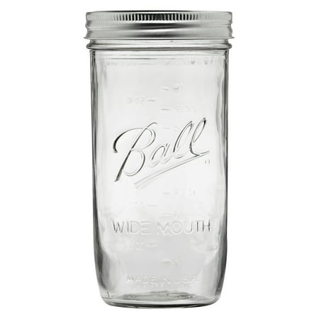 Tiny Mason Jars (Ball Glass Mason Jar with Lid and Band, Wide Mouth, 24 Ounces, 9)