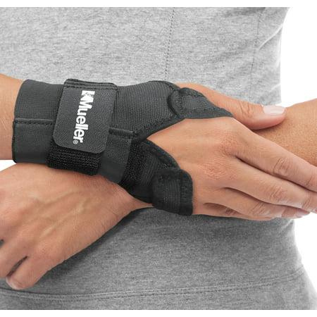 Sports Medicine Splint (Mueller Reversible Wrist Brace with Splint, Black, One Size Fits Most)