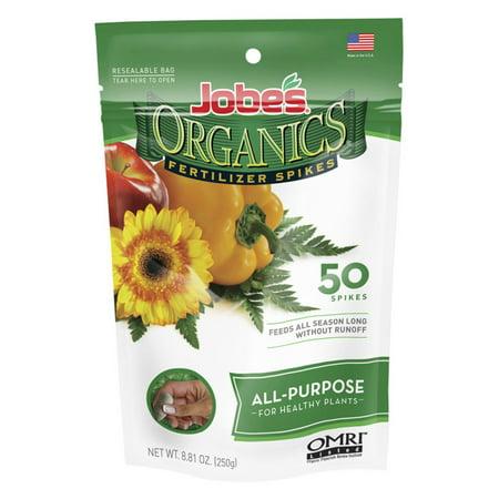 Jobes Easy Gardener 06528 Organicsâ ¢ All Purpose Fertilizer Spikes 4-4-4 50 Count