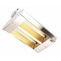 FOSTORIA 222-30-THSS-240V Electric Infrared heater, Ceiling, Suspended, 20 ga.