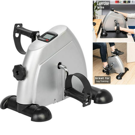 Bike Pedal Exerciser - Portable Mini Exercise Bike for Arm/Leg Exercise, Mini Exercise Peddler with LCD Display, Fit for Above/Under Desk(Black)