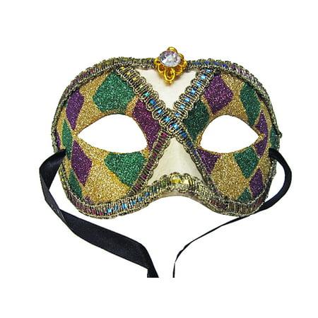 Mardi Gras Masquerade Face Mask ()