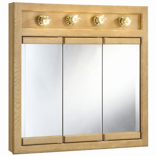 Charlton Home Strickland 30u0027u0027 X 30u0027u0027 Surface Mount Medicine Cabinet With  Lighting