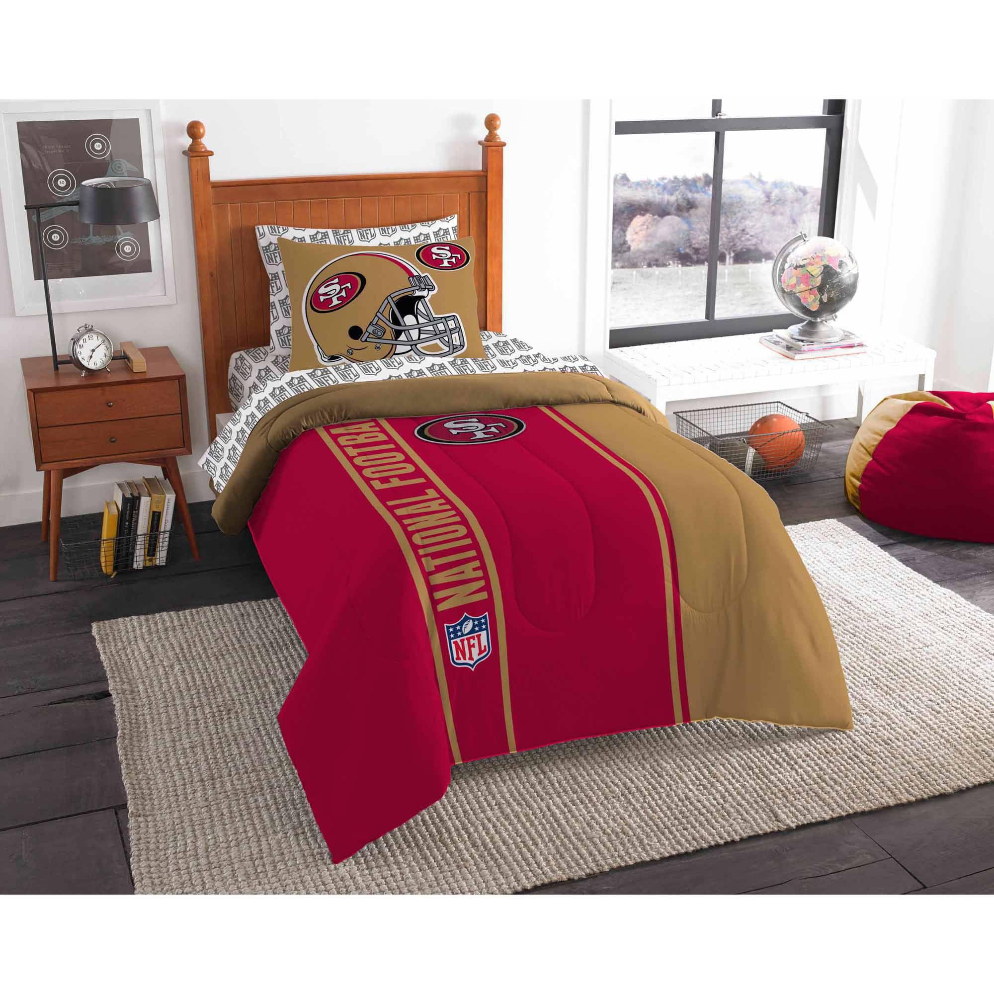 NFL San Francisco 49er's Soft and Cozy Bed in a Bag Complete Bedding Set