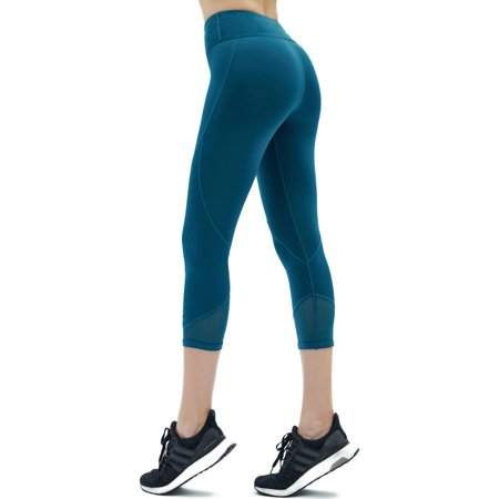 Yoga Pants for Women Cropped Capris - Girls High Waist Workout Leggings - Lightweight Printed Yoga Legging XS-XXL