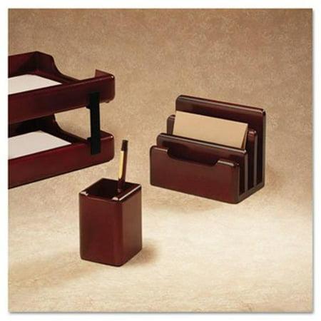 Wood Tones Pencil Cup, Mahogany, 3.13 x 3.13 x 4.5 Mahogany Tone Wood