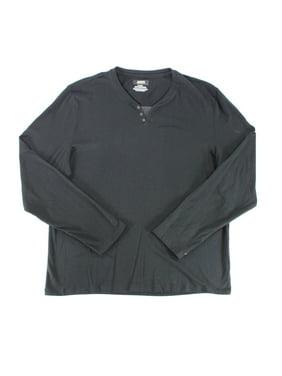 55420ab052b Free shipping. Product Image NEW Deep Black Mens Size XL Long-Sleeve Split  Neck Henley Shirt. Alfani