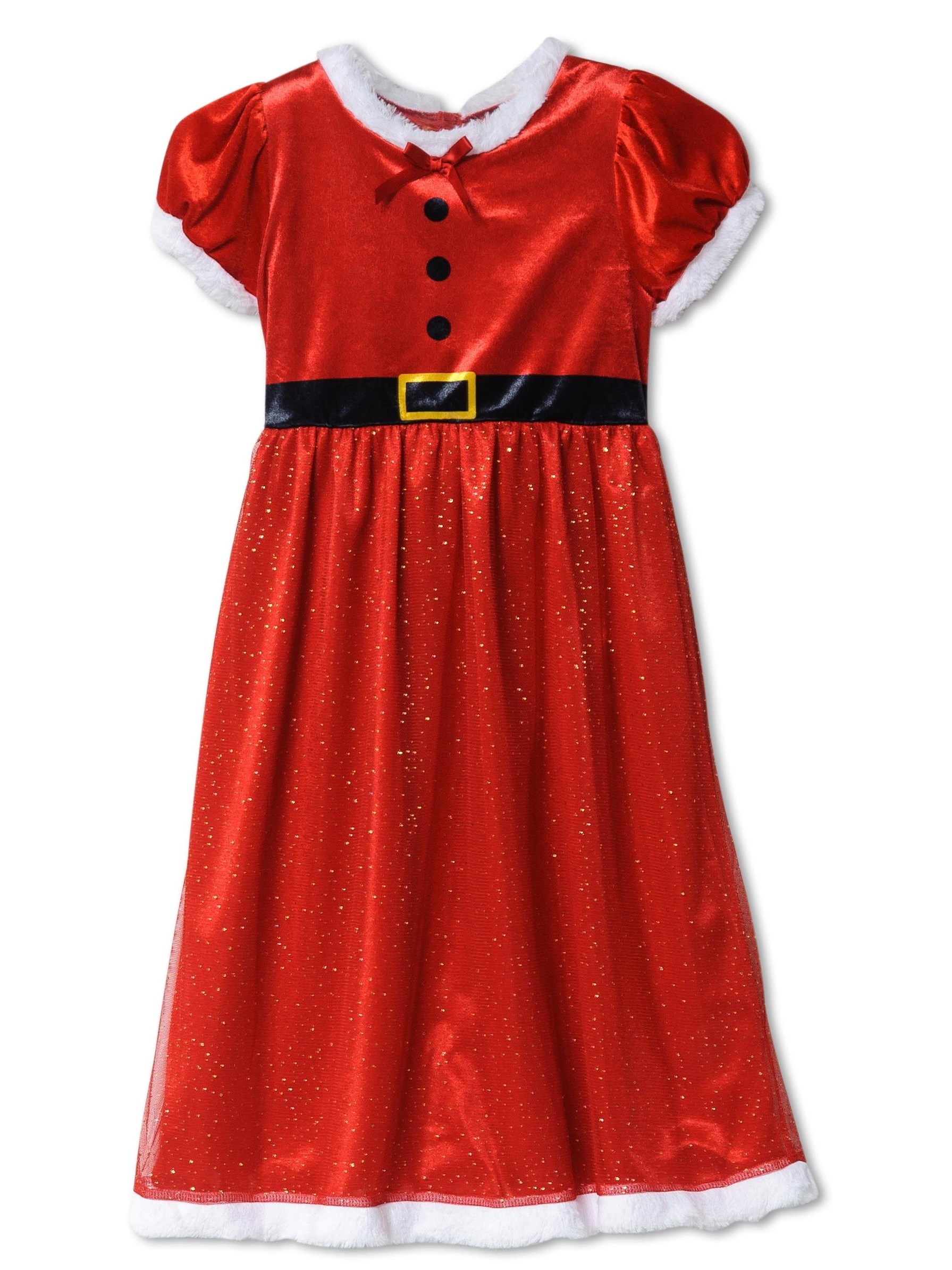 Princess Dream Girl Red Santa Glittery Nightgown Long Night Gown Nightie