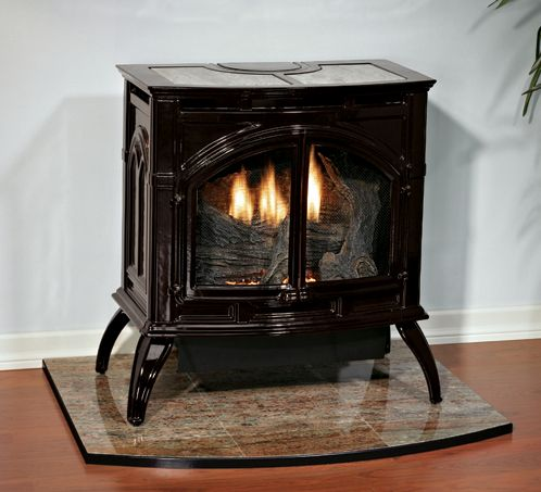 Heritage Cast Iron Porcelain Black Stove VFD30CC30BN - Natural Gas