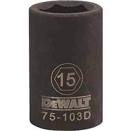 Stanley Tools 7516701 DWMT75103OSP Impact 0.5 Drive 6 Point Socket, 15 mm