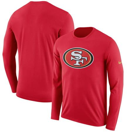 San Francisco 49ers Nike Fan Gear Primary Logo Long Sleeve Performance T- Shirt - Scarlet - Walmart.com cb28c43df