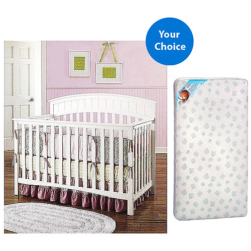 Graco Charleston 4-in-1 Convertible Crib and Mattress Value Bundle