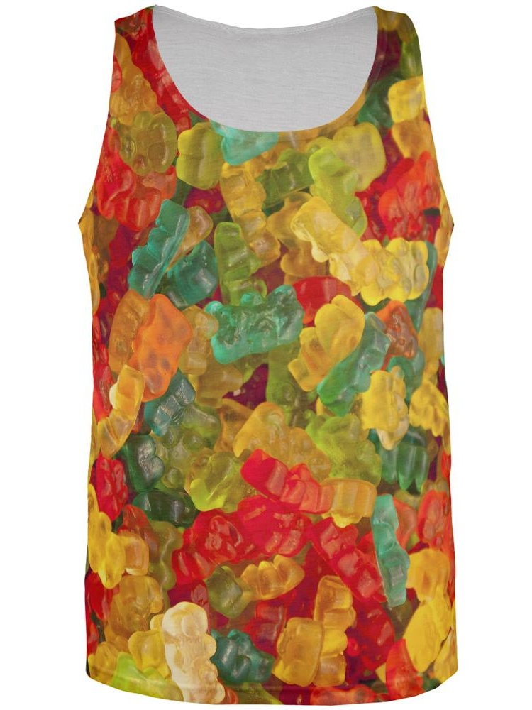 Old Glory Jelly Beans All Over Adult Tank Top