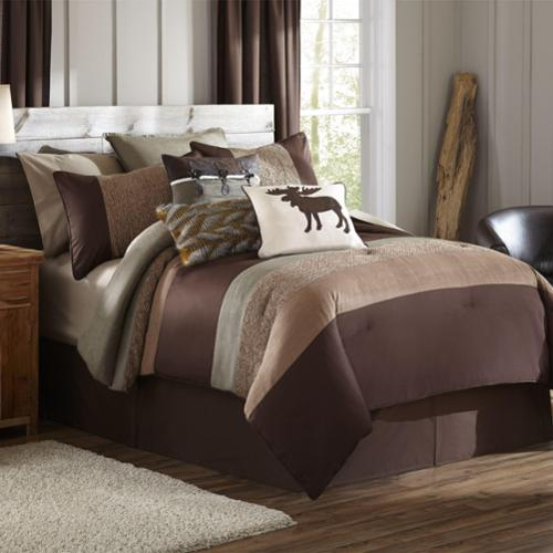 MYTEX LLC Stowe Creek Brown Green 4-piece Comforter Set