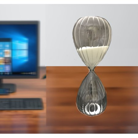 Large All Glass Desk-top Sand Timer, Home, Office, Room, Decor, All hand made, Turn it over and see the sands drops. Product Size: 4.75x10.5x 4.75