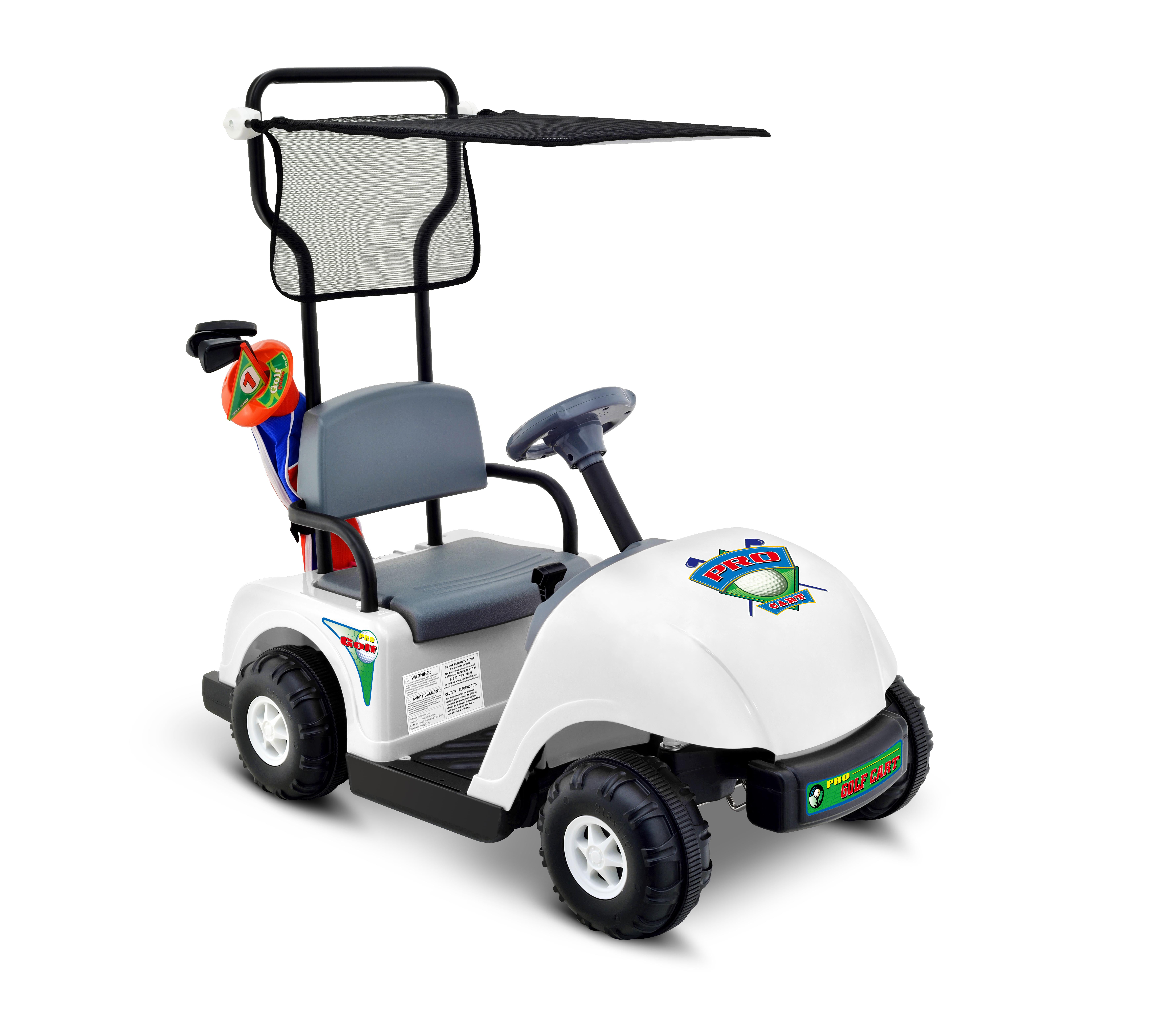 Click here to buy Kid Motorz Junior Pro Golf Cart 6-Volt Battery-Powered Ride-On by National Products Ltd..