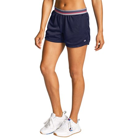Champion Women's Mesh Shorts Champion White Basketball Shorts