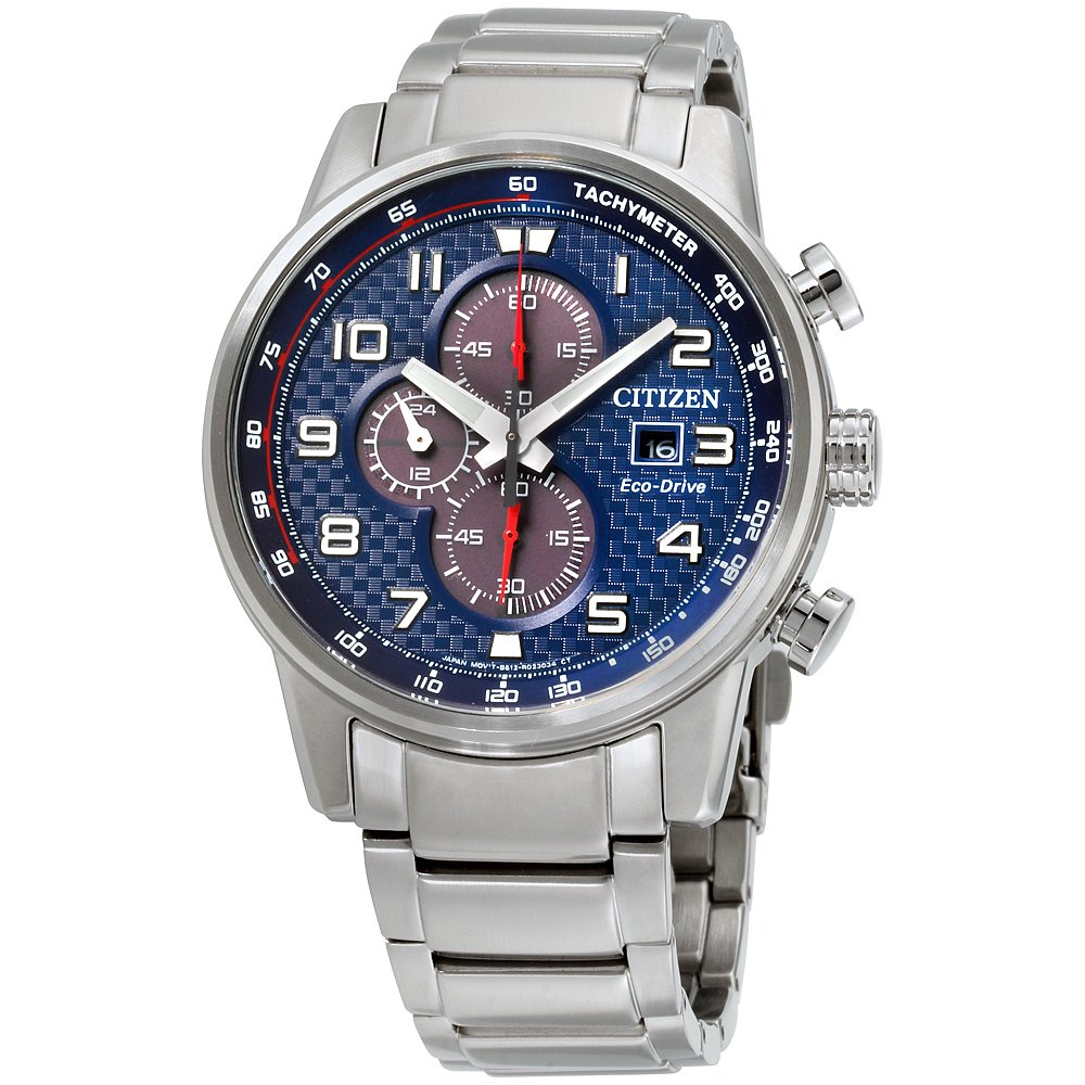 Citizen Men's Eco Drive Primo Chronograph Stainless Steel Watch CA0680-57L