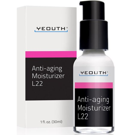YEOUTH Best Anti Aging Moisturizer Face Cream, Shea Butter, Jojoba & Macadamia Seed Oil, and Patented L22 Complex From YEOUTH, Hydrates, Firms, Erases Wrinkles & Evens Skin Tone - Day & Night (Best Face Firming Products)