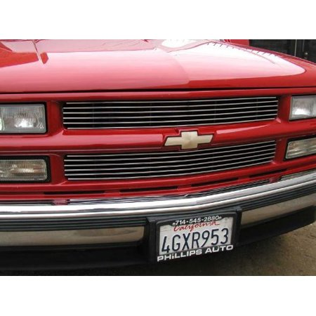 - Grillcraft CHE1450-BAC BG Series Polished Aluminum Upper 2pc Billet Grill Grille Insert for Chevy Silverado Suburban Tahoe