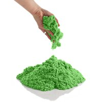 CoolSand Natural 5 Pound Refill Pack - Including: 5 Pounds Moldable Indoor Play Sand, Storage Bucket and Inflatable Sandbox