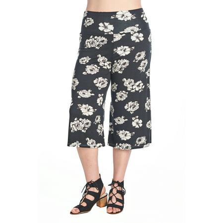 54718368087dd Women s Plus Size Soft Capri Gaucho Pants Made in USA 1X 2X 3X ...