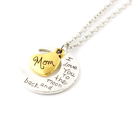 Fashion Jewelry I Love You Family Mom Birthday Gift Pendant Necklace for Women Girl - Mom