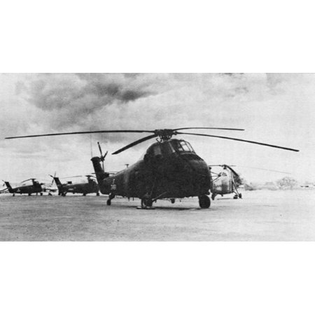 Us Army Air Force - LAMINATED POSTER South Vietnamese Air Force Sikorsky CH-34A Choctaw helicopters (US Army s/n 53-4511 is in the foregr Poster Print 24 x 36