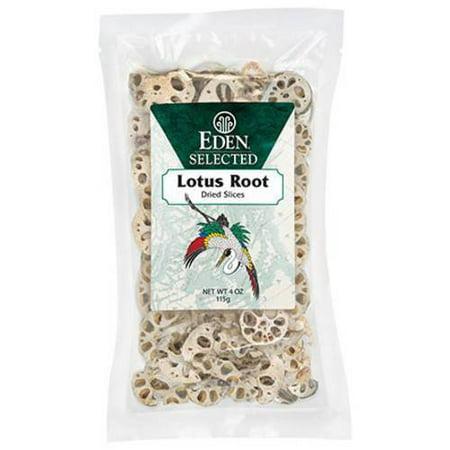 Lotus Root Vegetable (Eden Lotus Root - dried, sliced, 4 Ounce (Pack of 4))