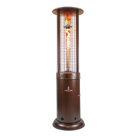 Opus Lite R-Line 7 Foot Liquid Propane Commercial Flame Patio Heater Tower, Manual Ignition, Heritage Bronze Finish ()