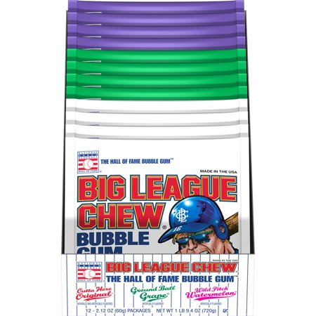 Product Assortment - Product of Big League Chew Bubblegum Club Pack Assortment Pouches [Biz Discount]