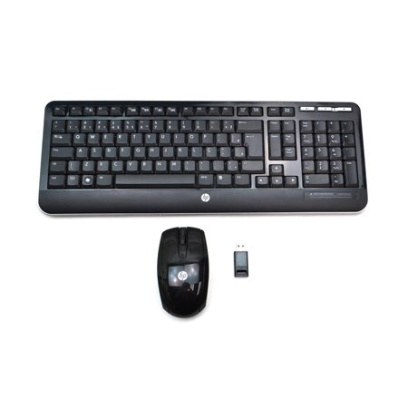 588544-201 588485-001 HP Brazilian Portuguese Wireless Keyboard Mouse USB Receiver Bundle 623919-201 Desktop Keyboards