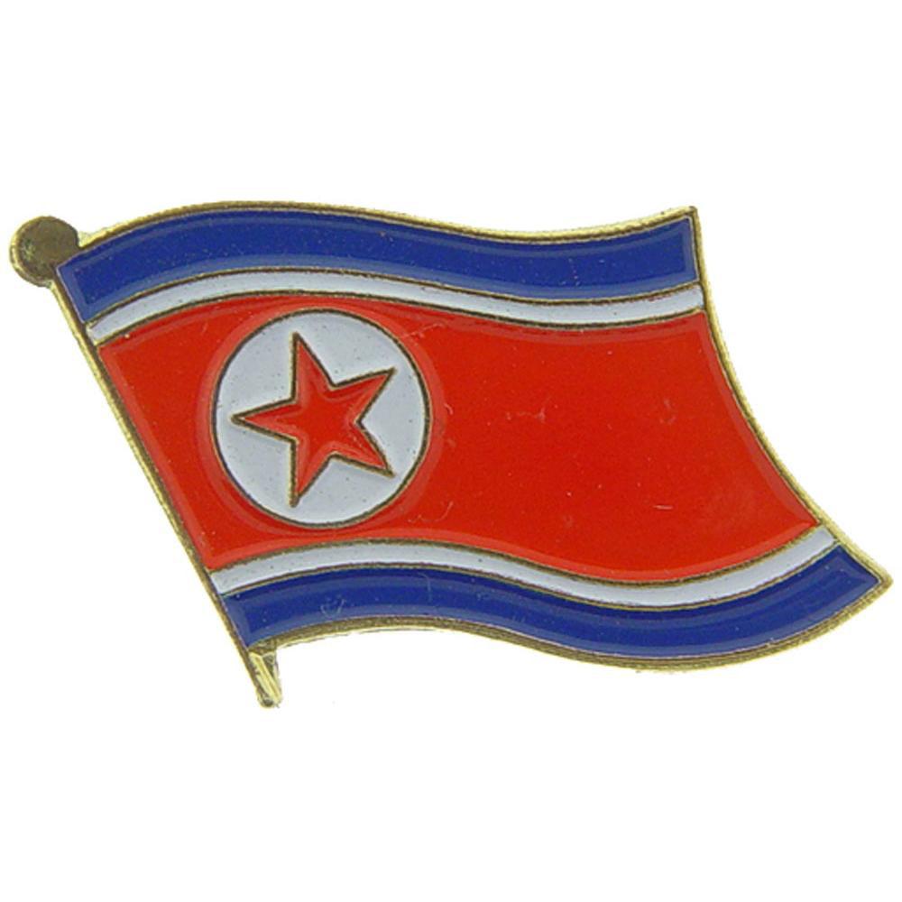 "North Korea Flag Pin 1"""