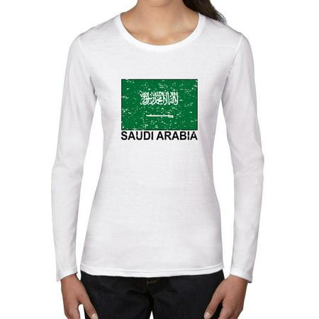 Saudi Arabia Flag - Special Vintage Edition Women's Long Sleeve T-Shirt](Beautiful Arabian Womens)