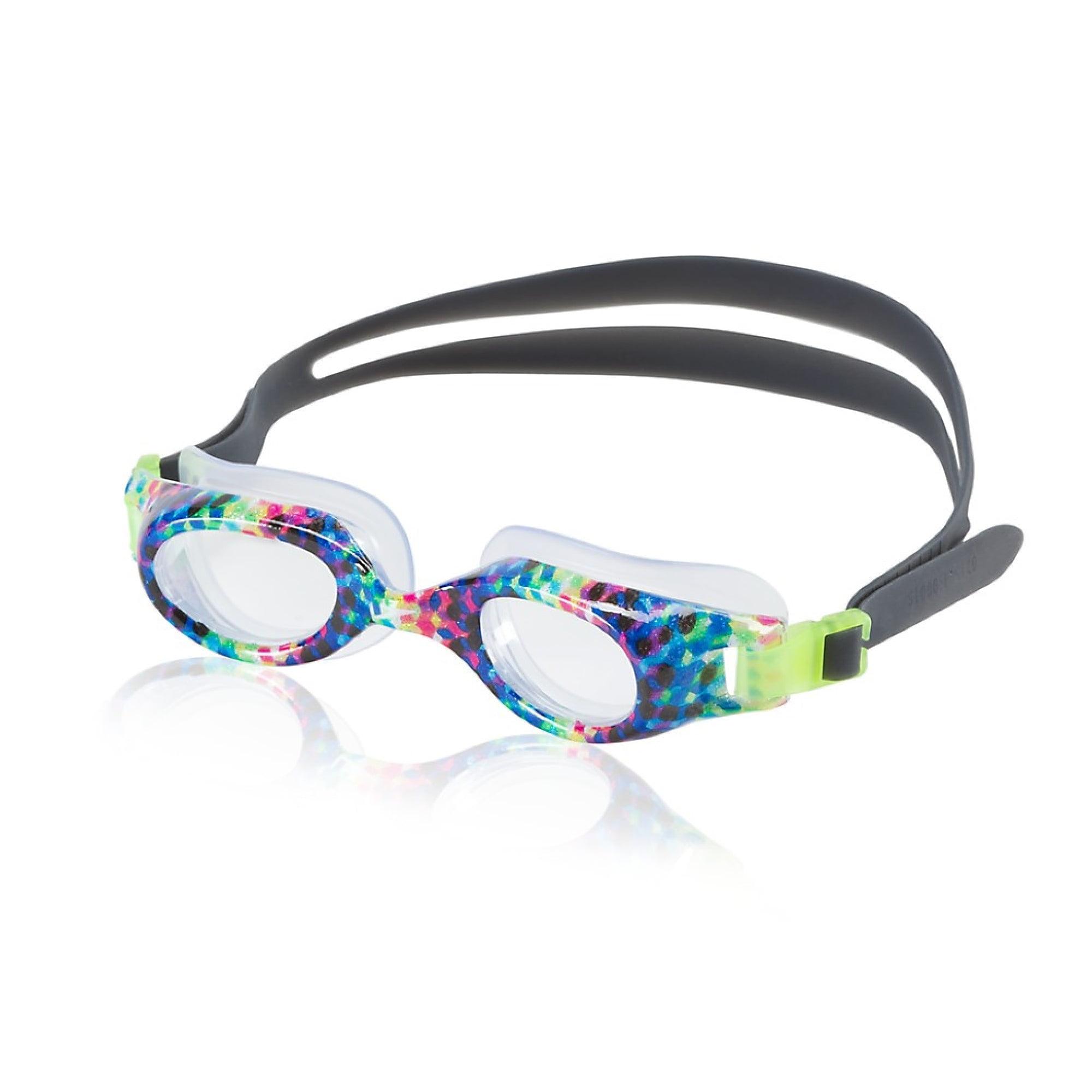 Speedo Junior Hydrospex Print Goggle - Kids Recreation Goggle - Rainbow