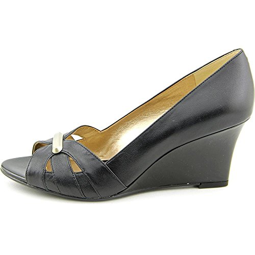 Circa Joan & David Jemmaa Open Toe Leather Wedge Heel