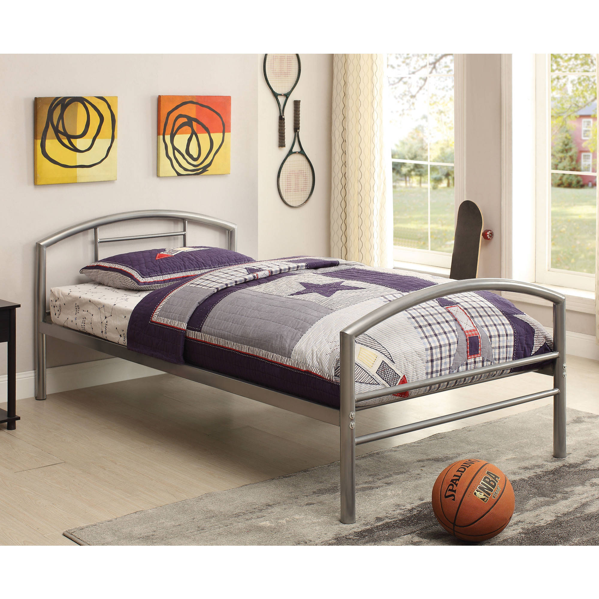 Coaster Company Youth Twin Metal Bed, Silver