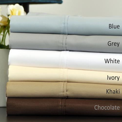 700 Thread Count Quality Cotton Blend Sheet Set Queen- Blue
