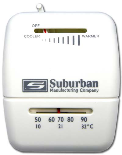 Heat Only White Suburban 161154 Wall Thermostat