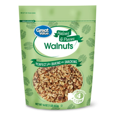 Smoked Walnut (Great Value Walnuts Halves & Pieces, 16)