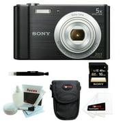 Sony  DSCW800/B w/ Standard Medium Digital Camera Case and 16GB SDHC  Bundle