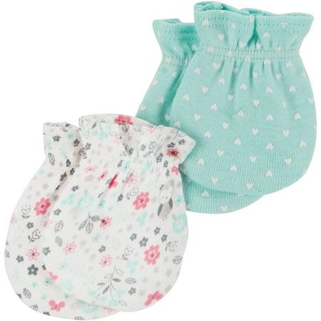 d5bee891383b Child of Mine by Carter s - Newborn Baby Girl 2 Pack Mitten Set ...