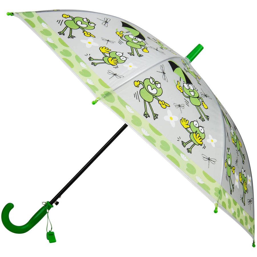 Aerusi Rainy Day Novelty Kids Easy Open Automatic Umbrella with Safety Whistle by