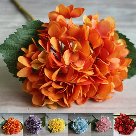 Holiday Clearance Silk Artificial Hydrangea Flower Bouquet Arrangement Home Wedding Christmas Decoration