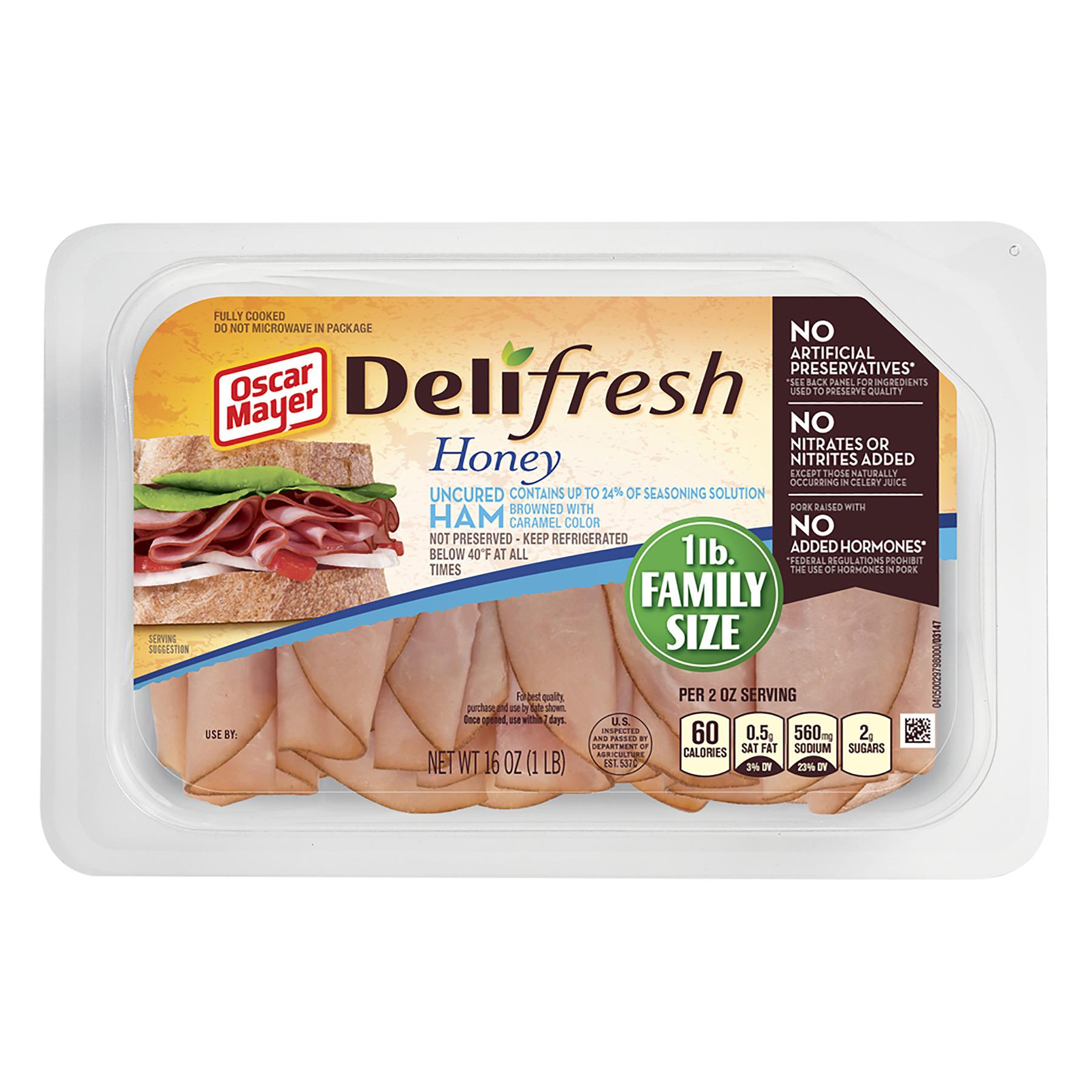 Oscar Mayer Deli Fresh Honey Ham, 16 oz