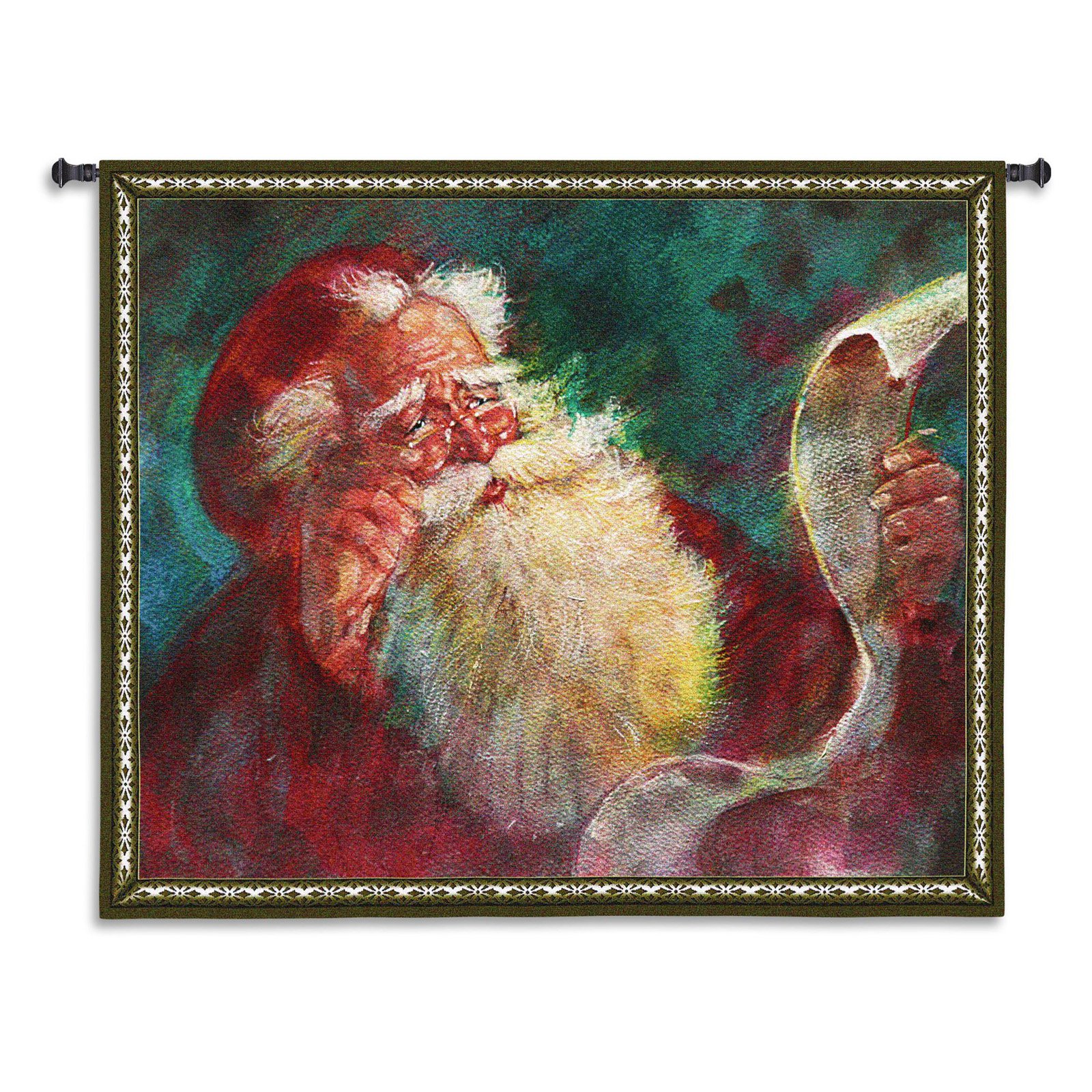 Fine Art Tapestries Santas List Wall Tapestry by Supplier Generic