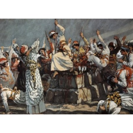 The Prophets Of Baal Leap Upon The Altar James Tissot Jewish Museum New York Poster Print