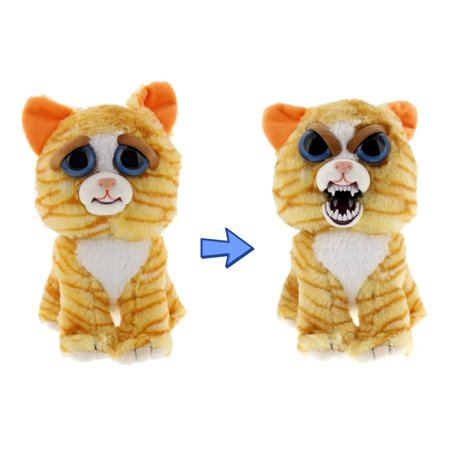 "Feisty Pets by William Mark- Princess Pottymouth- Adorable 8"" Plush Stuffed Cat That Turns Feisty With a Squeeze!"