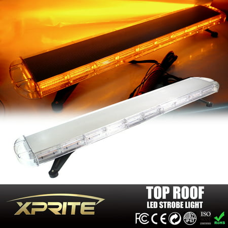 Xprite 47 inch 88 led amber 28 modes roof top emergency strobe xprite 47 inch 88 led amber 28 modes roof top emergency strobe led light bar aloadofball Image collections